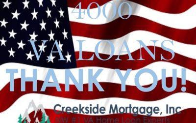 4000th VA home Loan
