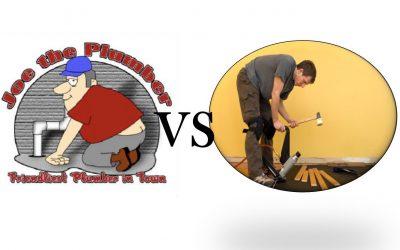 Plumber VS Hardwood Installer